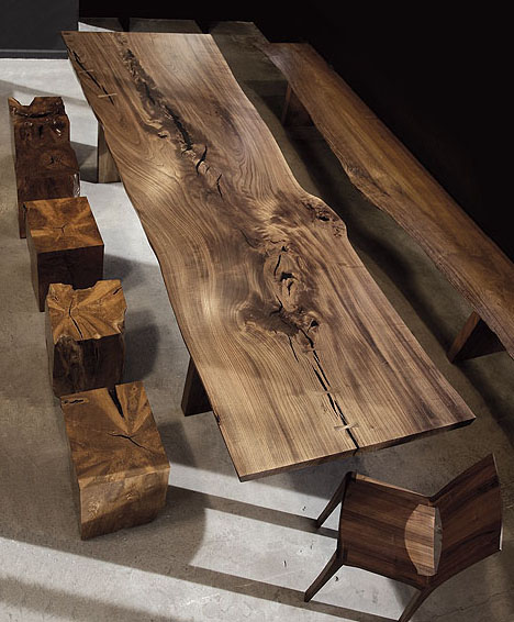 Modern solid wood furniture from hudson furniture in for Wood dining table decor