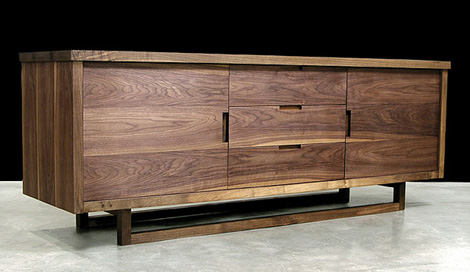 Elegant Modern Solid Wood Furniture From Hudson Furniture, In Claro Walnut |  KARMATRENDZ