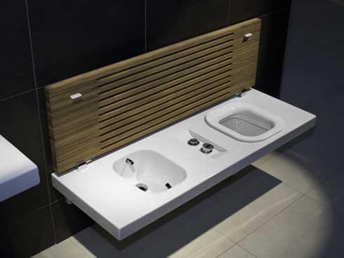 toilet and bidet combination from hatria karmatrendz. Black Bedroom Furniture Sets. Home Design Ideas