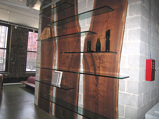 wooden shelf design