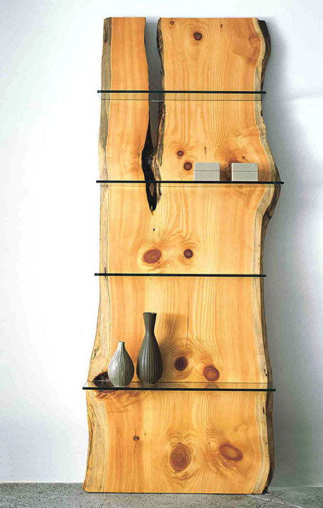 Contemporary Shelves From Natural Wood KARMATRENDZ