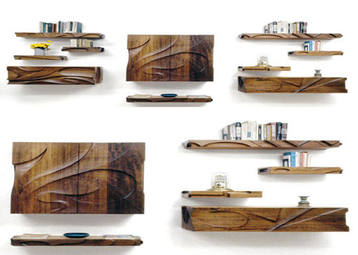 Modern Wood Shelves : Contemporary Shelves from Natural Wood  KARMATRENDZ