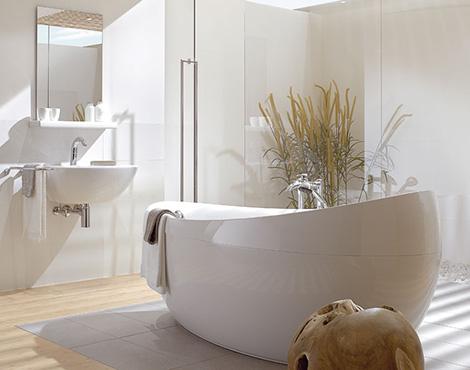 Oval whirlpool tub aveo from villeroy boch karmatrendz - Villeroy und boch badewanne whirlpool ...