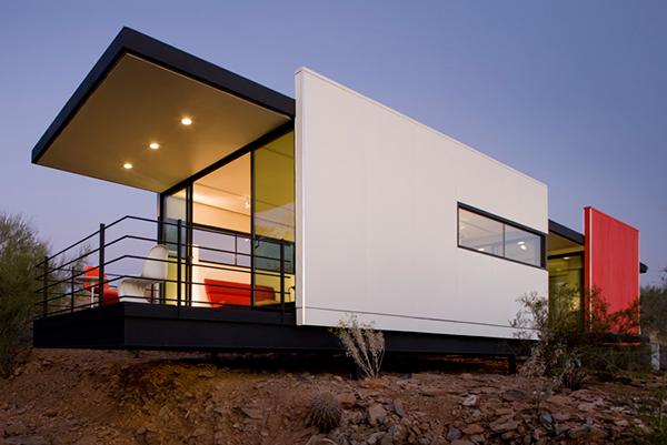 Prefab desert homes modern sustainable prefab home for Green modular home designs