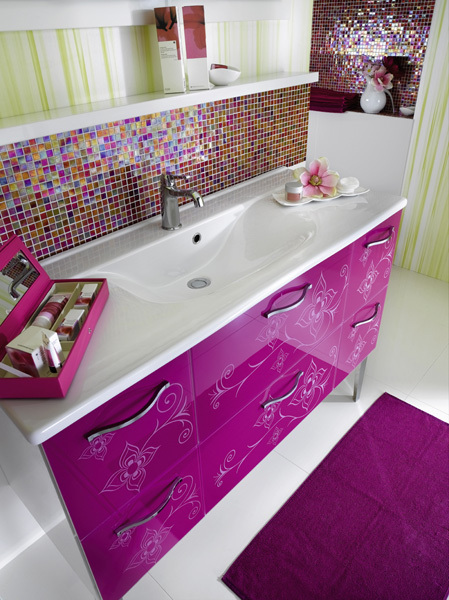 Glamour Bathroom Furniture and Designs for Girls from ...