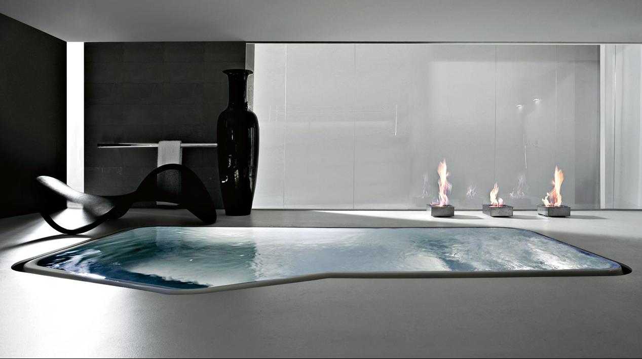 Interior pool by kos faraway mini pool karmatrendz for Large bathtub dimensions