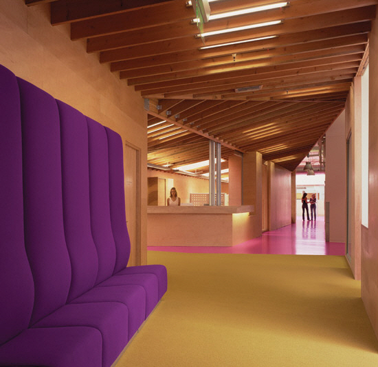 Fidm colorful campus interior by clive wilkinson - Interior design institute orange county ...