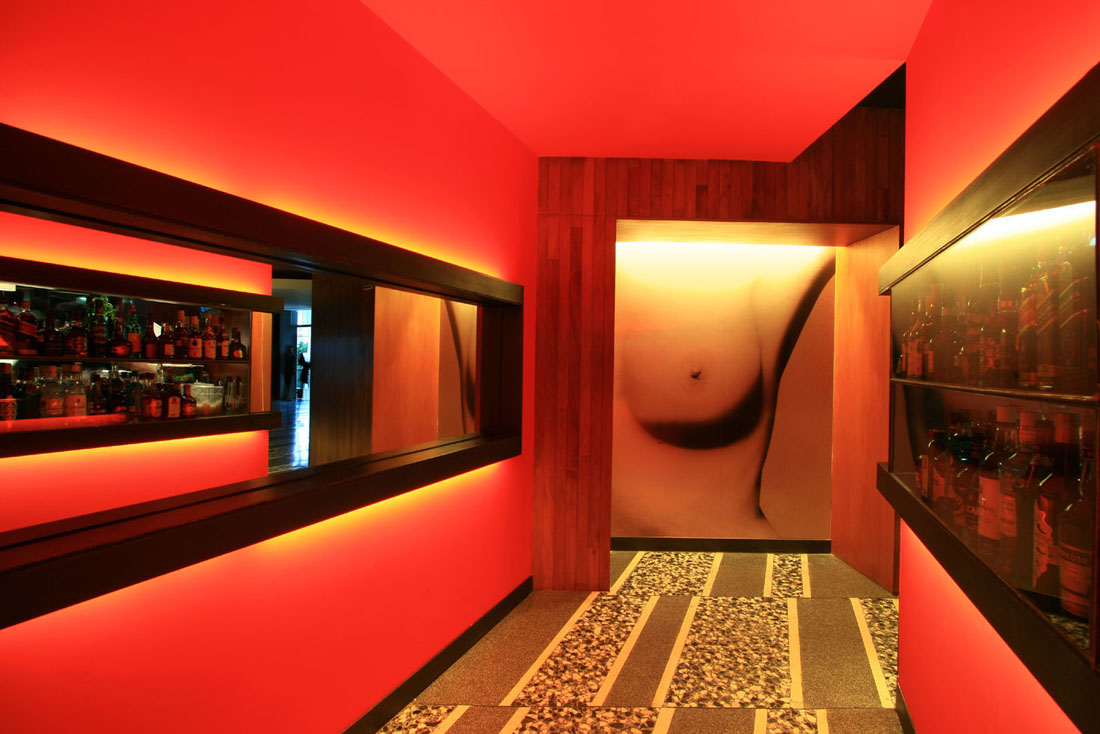 Nisha lounge bar by pascal arquitectos karmatrendz for Combinacion de colores para interiores