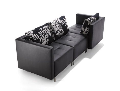 black sofa furniture