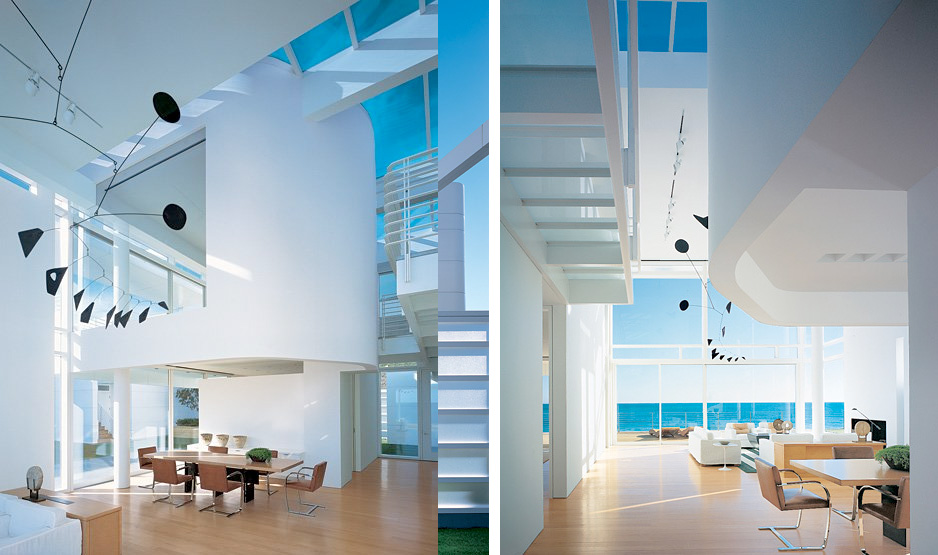 Modern Beach House With White Exterior Paint by Richard ... on Modern House Painting  id=27234