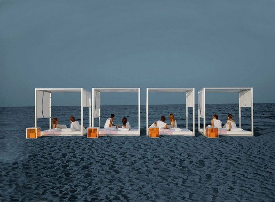 Outdoor White Daybed By Gandia Blasco Karmatrendz