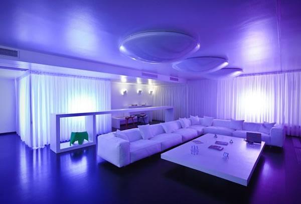 Scenography apartment in bucharest by aa studio karmatrendz - Led iluminacion interior ...
