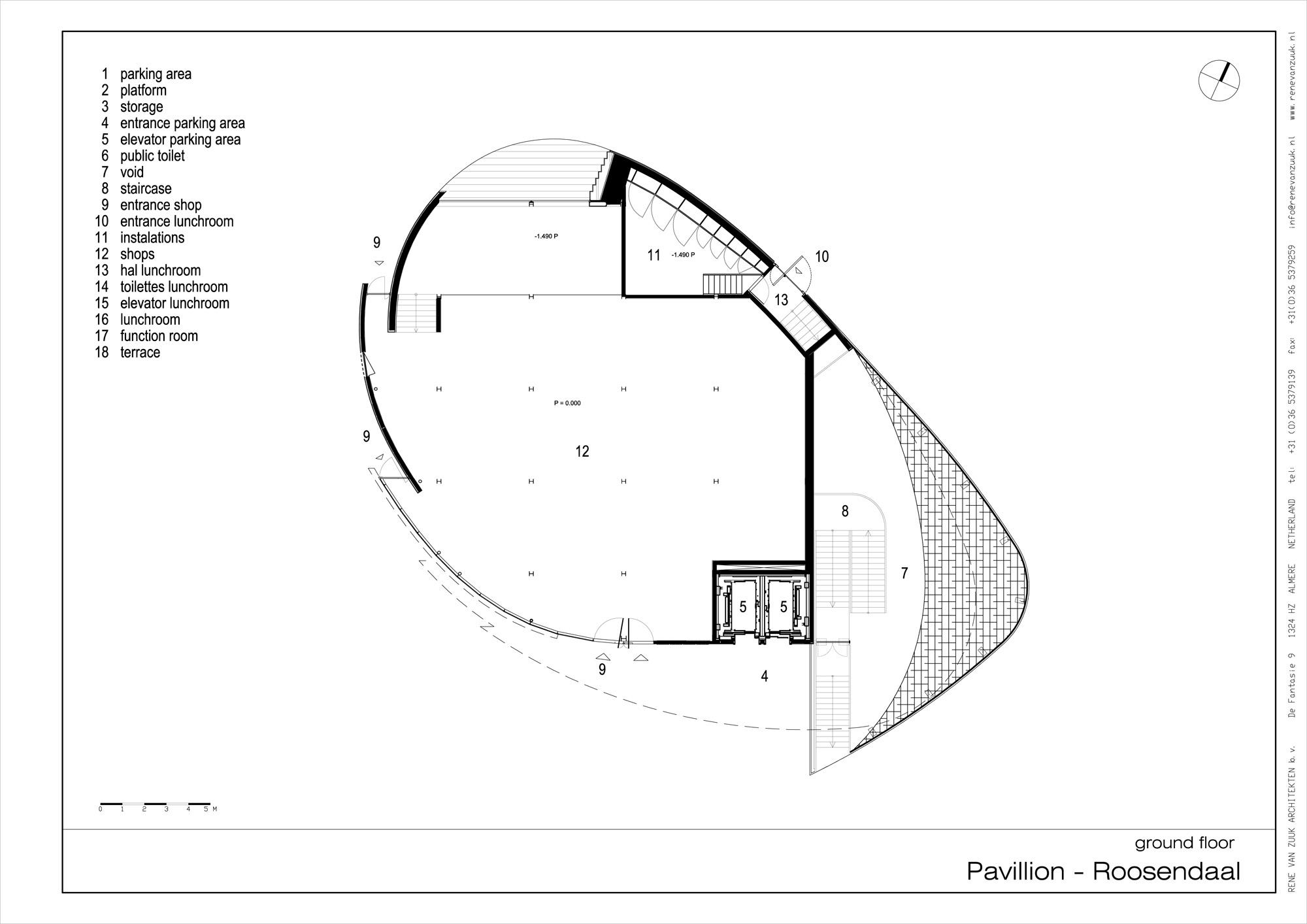 Roosendaal pavillion by ren van zuuk architekten for Pavillion house plans