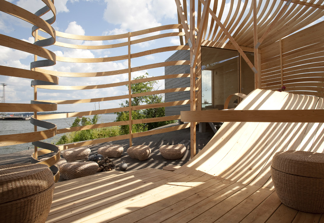 Wisa wooden design hotel by pieta linda auttila karmatrendz for Wooden hotel design