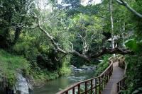 wooden bridge to the spa