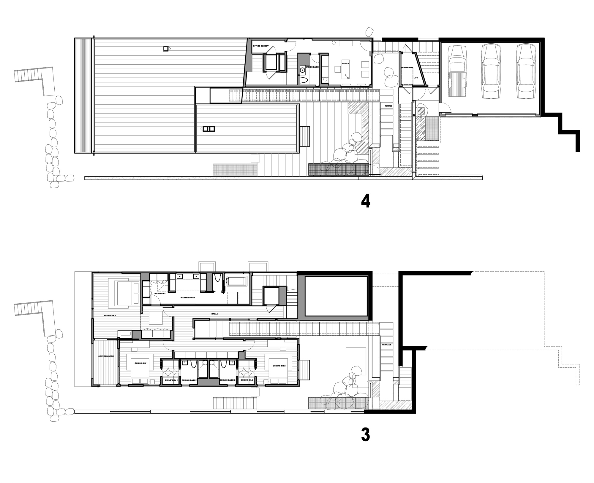 Courtyard House On A Steep Site By Hutchison Maul