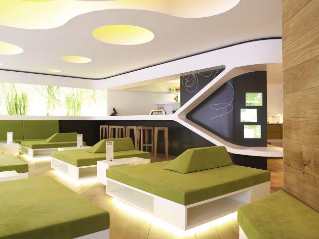 Nat fine bio food restaurant interior by eins