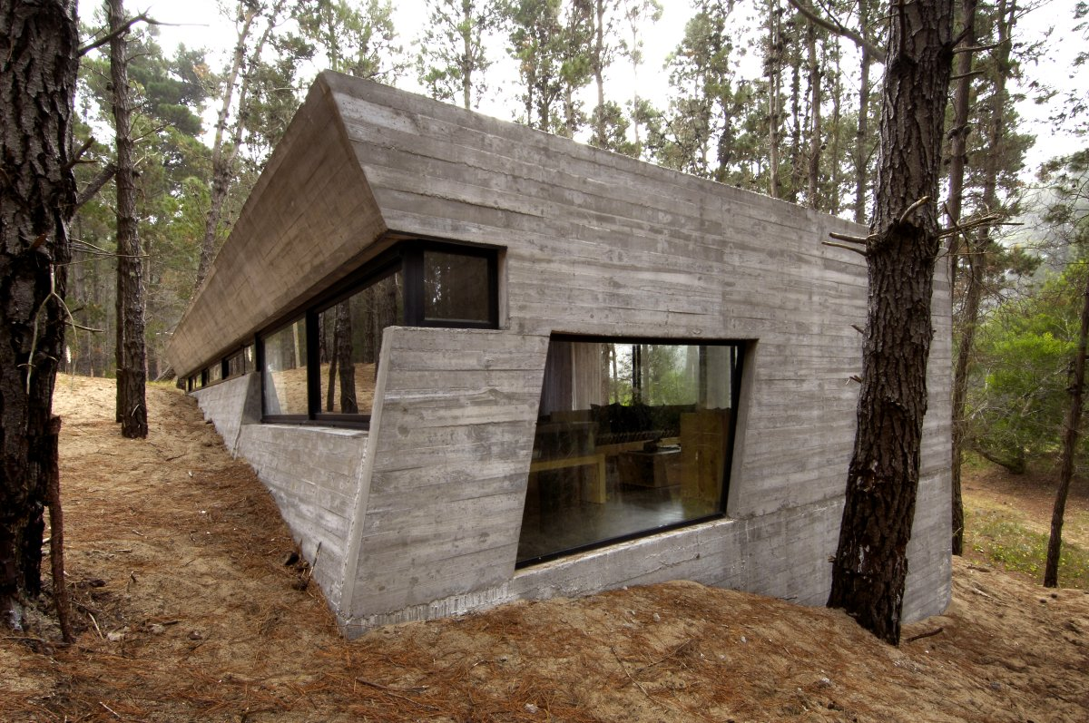 Concrete House in Mar Azul Forest by BAK Architects ...