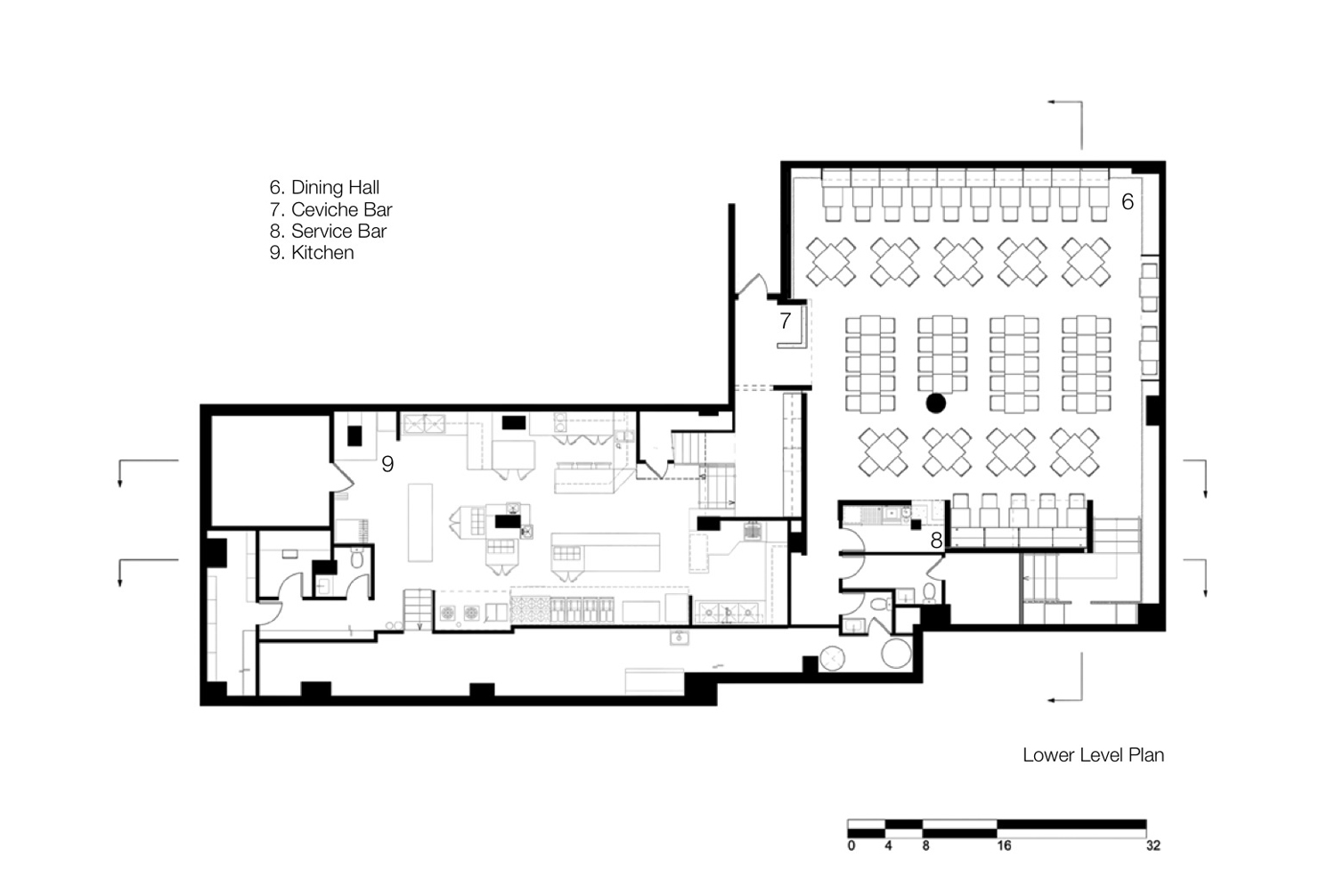 Pio pio restaurant by sebastian marsical studio karmatrendz - Small restaurant floor plan design ...