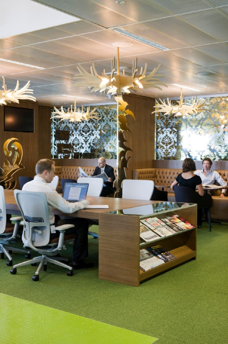 Macquarie bank by clive wilkinson architects karmatrendz for Most beautiful office design