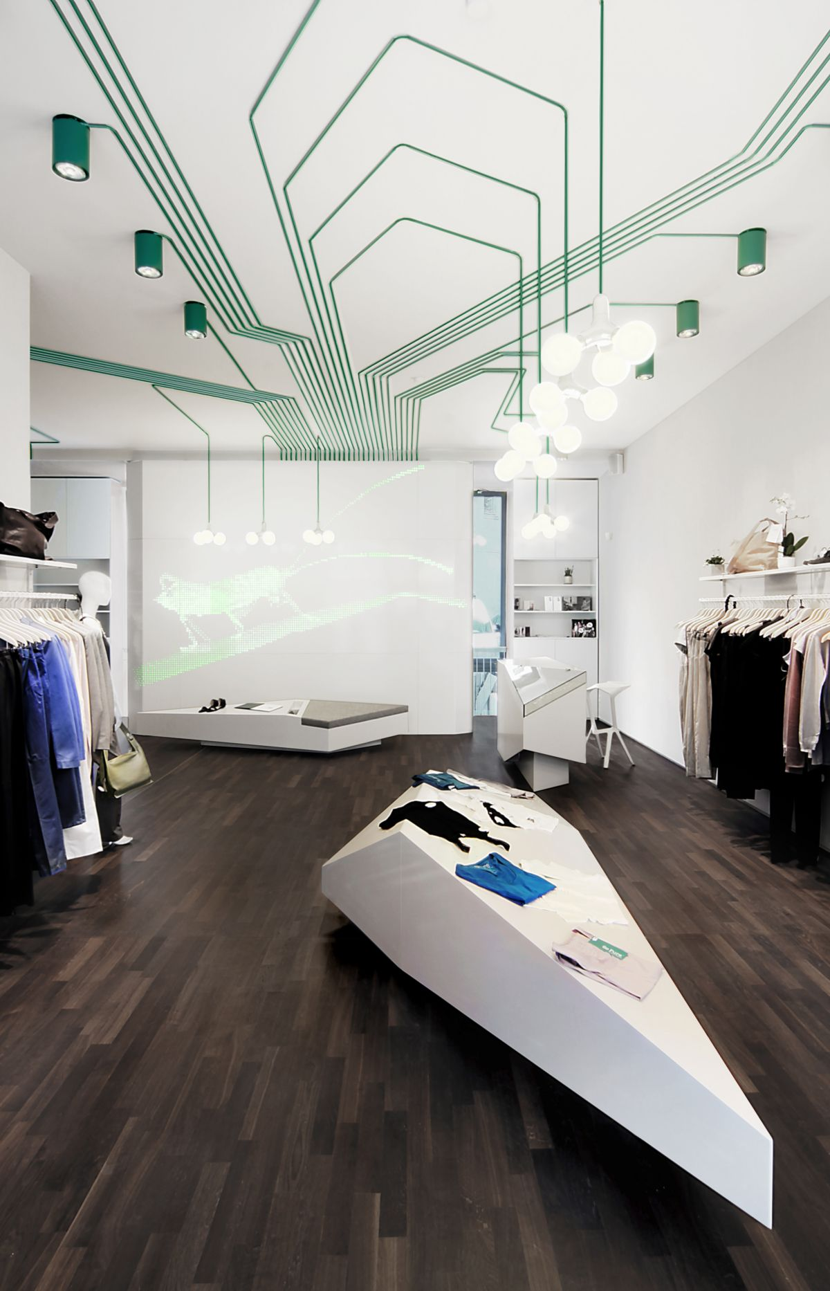 The maygreen shop interior by kinzo karmatrendz for Space architecture and design