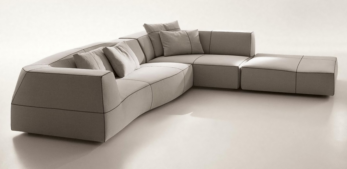 patricia urquiola has designed the bend sofa for the italian
