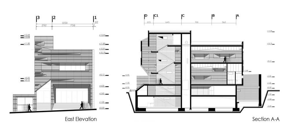 Commercial office building by abbas riahi fard farinaz for Commercial building elevation photos