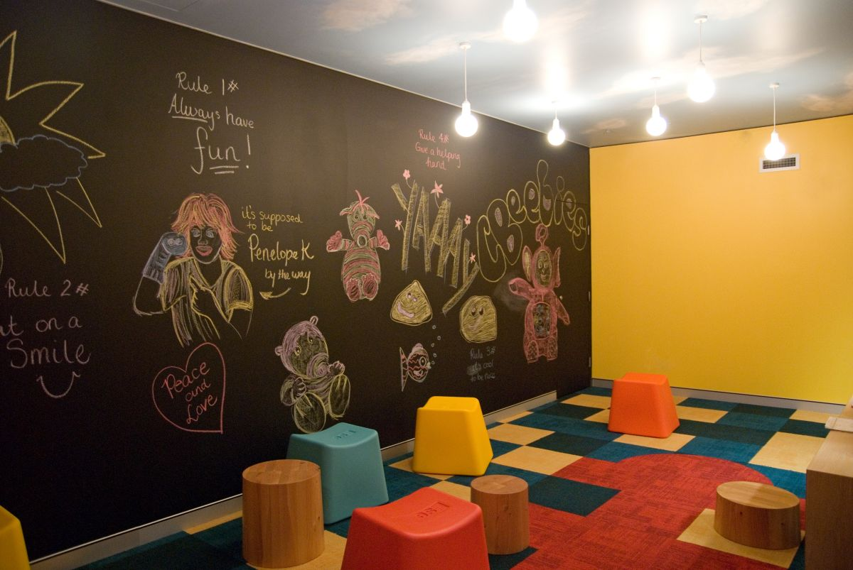 Bbc worldwide office interior by thoughtspace karmatrendz for Fun office decorating ideas