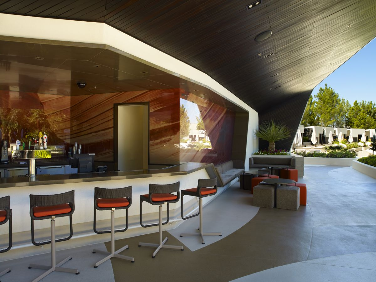 City Center S Aria Pool Deck Restaurant Amp Bar By Graft