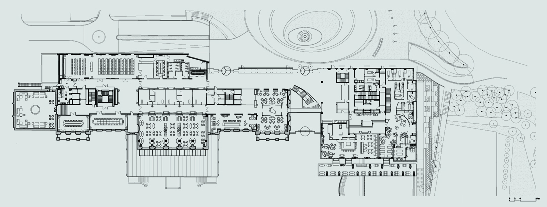 Palace hotel in portoro by api arhitekti karmatrendz for Modern site plan