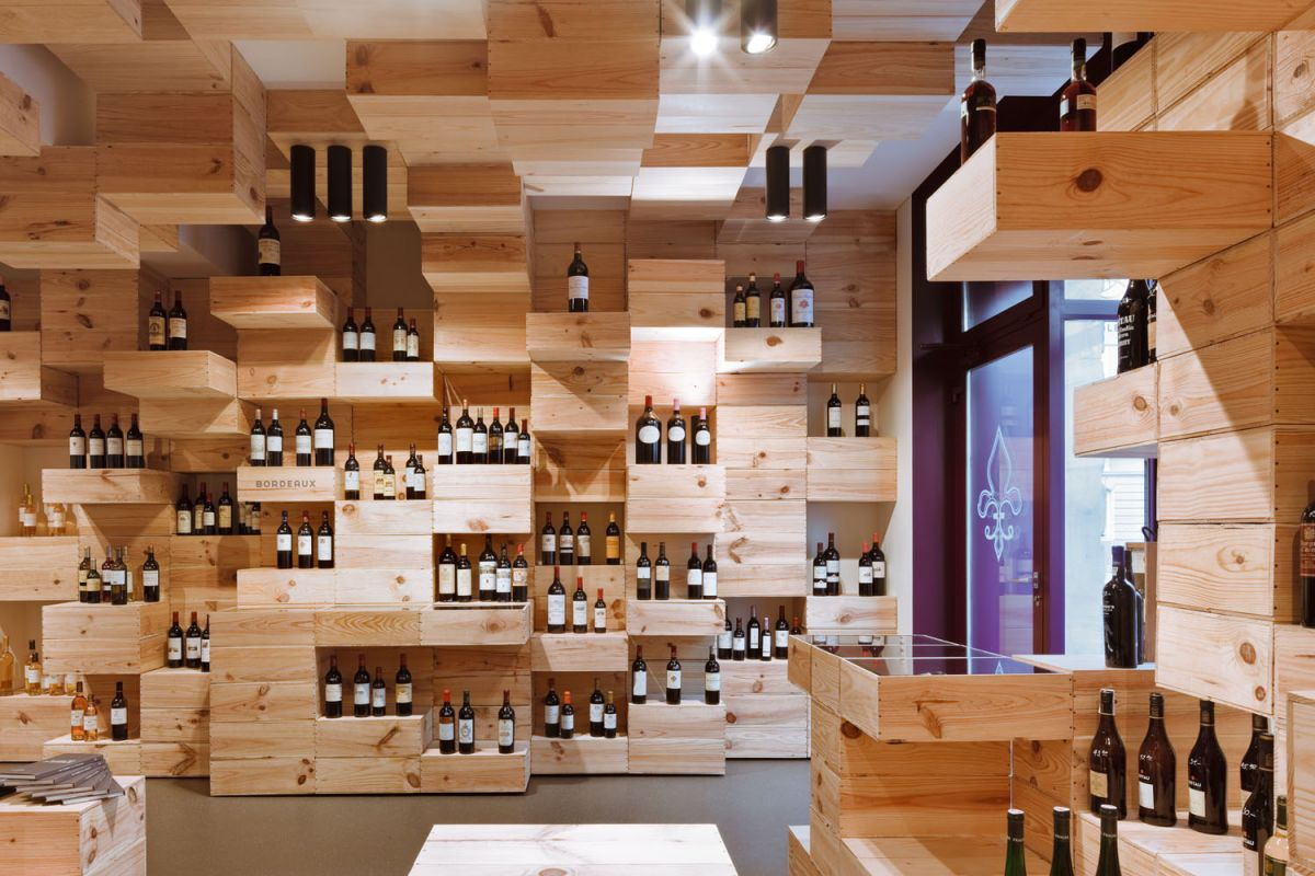 Albert reichmuth wine store by oos karmatrendz for Wine shop decoration