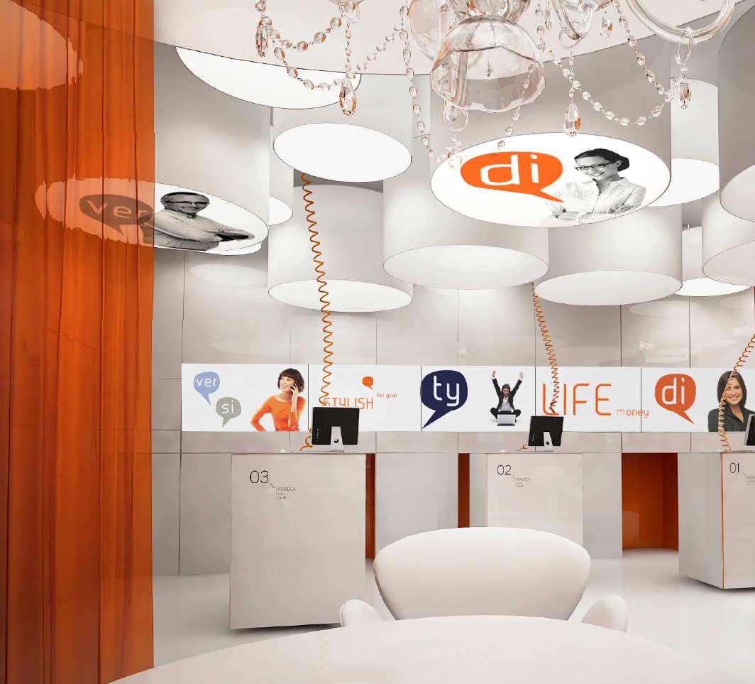 New interior standard for ing bank outlets by medusa for Office design outlet