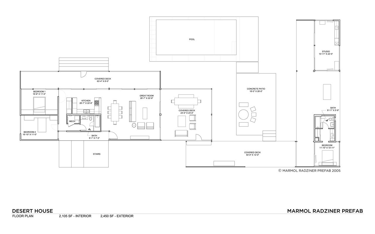 Desert house by marmol radziner karmatrendz for Desert house plans