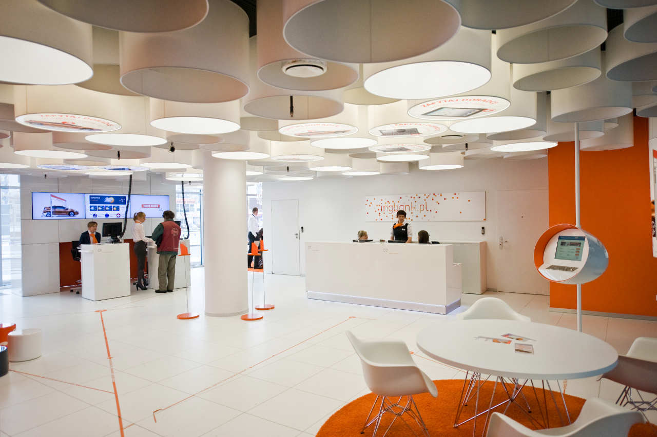 new interior standard for ing bank outlets by medusa