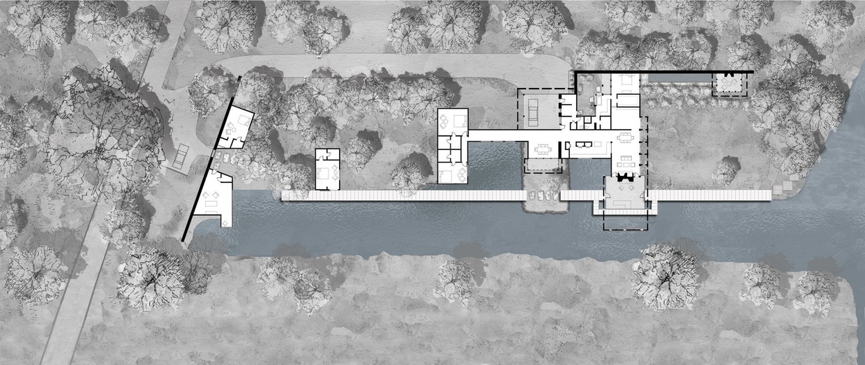 Lake austin house by lake flato architects karmatrendz for Austin home plans
