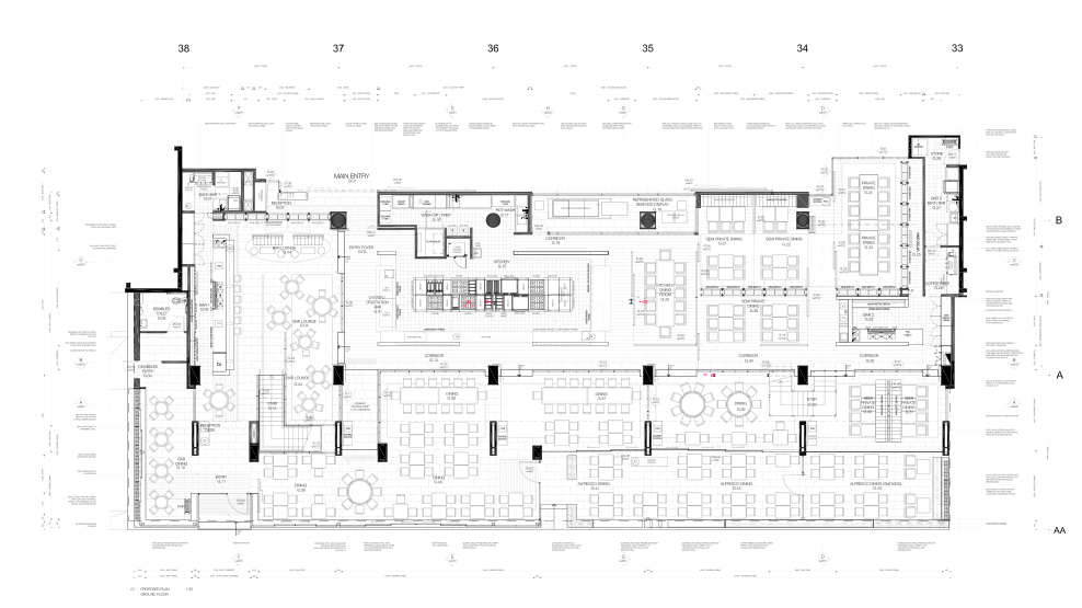 The atlantic restaurant by blackmilk interior design for Design your own restaurant floor plan
