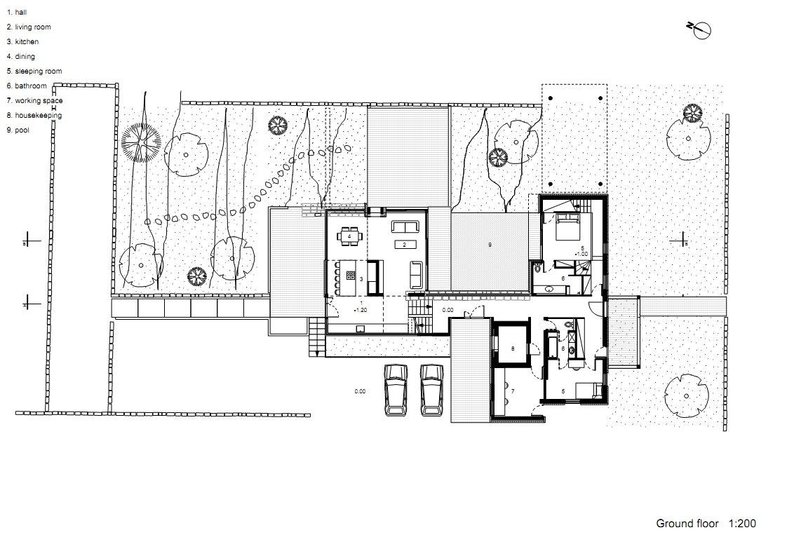Hotel Floor Plan Design: Hotel Villa By Uri Cohen Architects