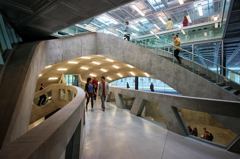 Milstein hall at cornell university by oma karmatrendz - Cornell university interior design program ...