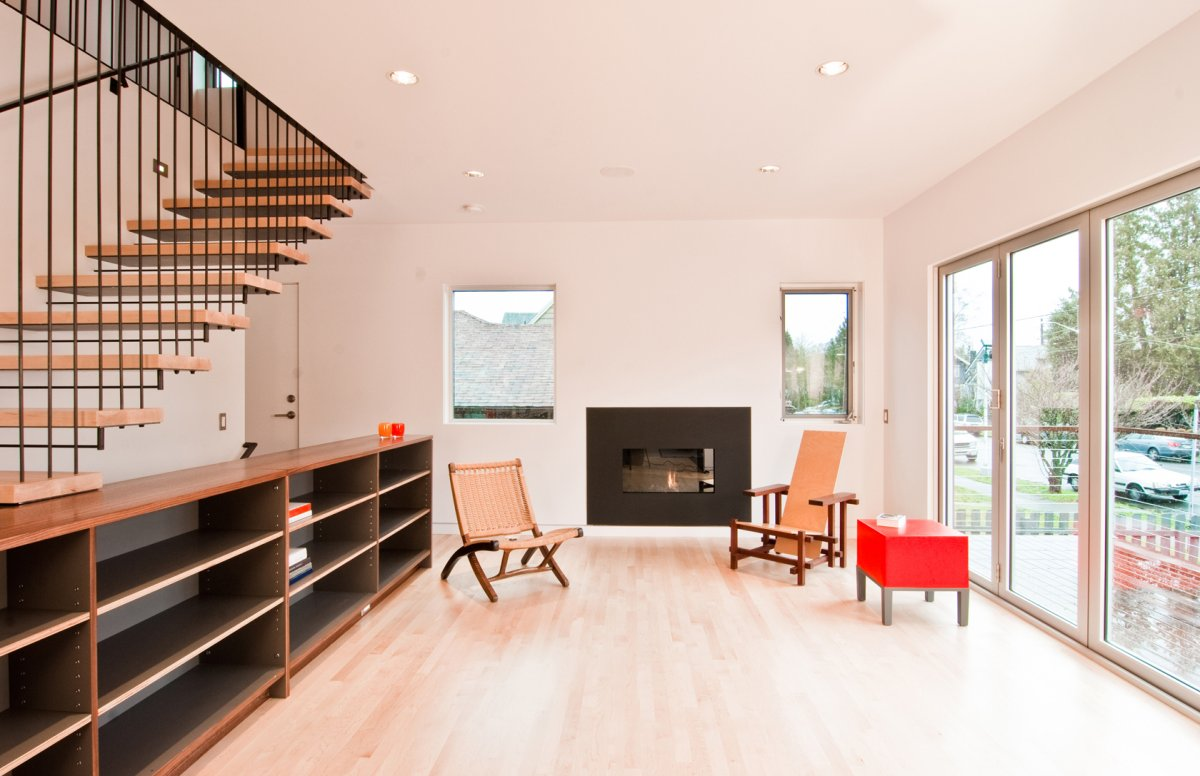 Living Room Design With Stairs: Cabinet Stair By Build LLC