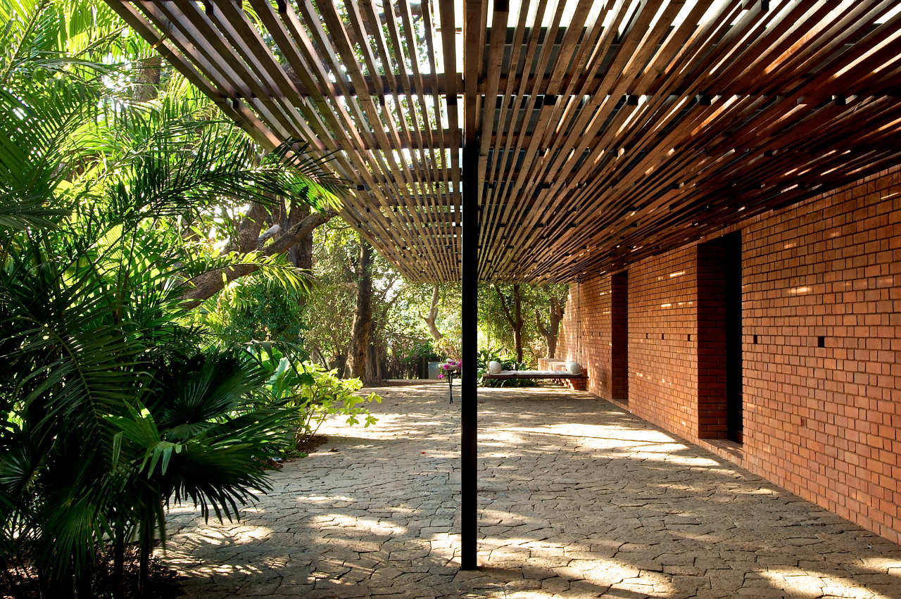 The Brick Kiln House by SPASM Design Architects | KARMATRENDZ on brick steps design, house on stilts designs, brick interior design, house with roof terrace,