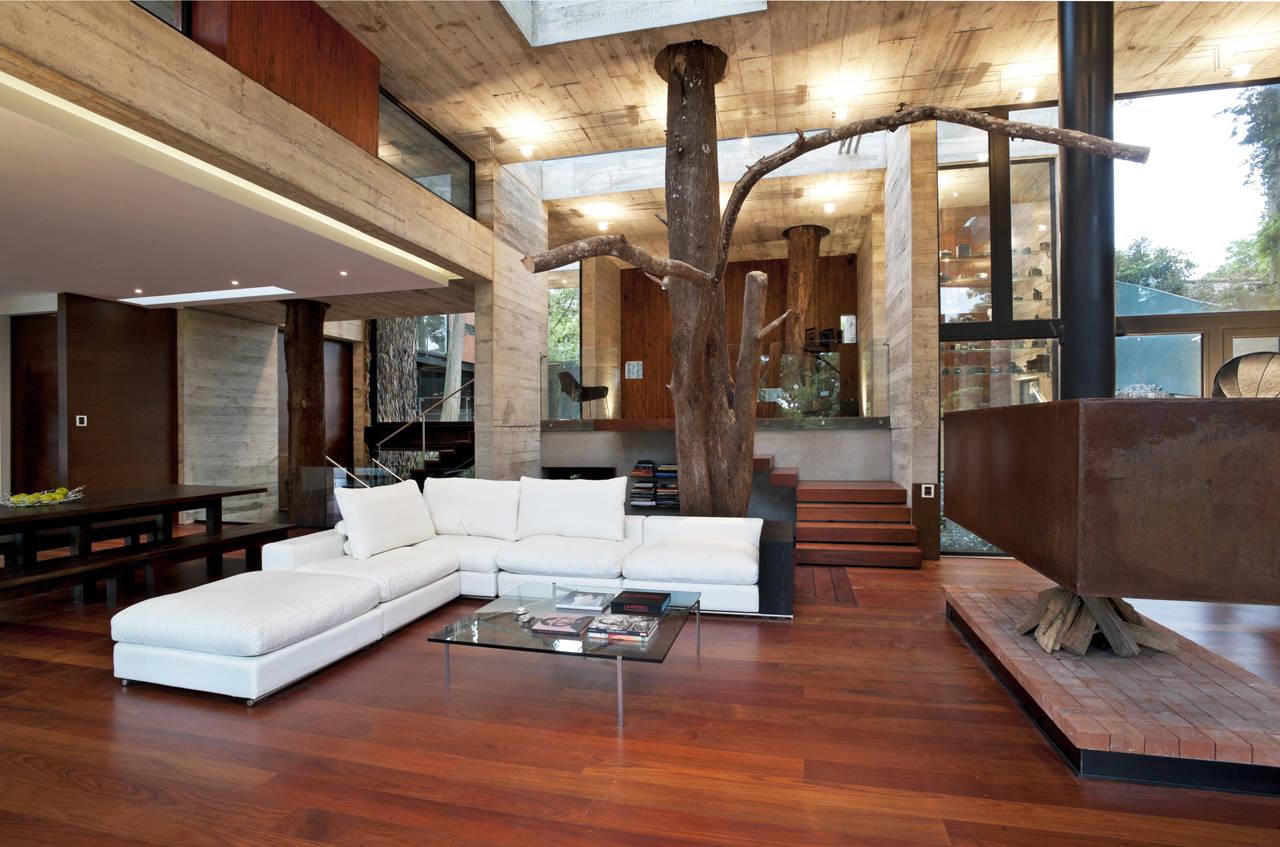 дизайн современного деревянного дома внутри фото