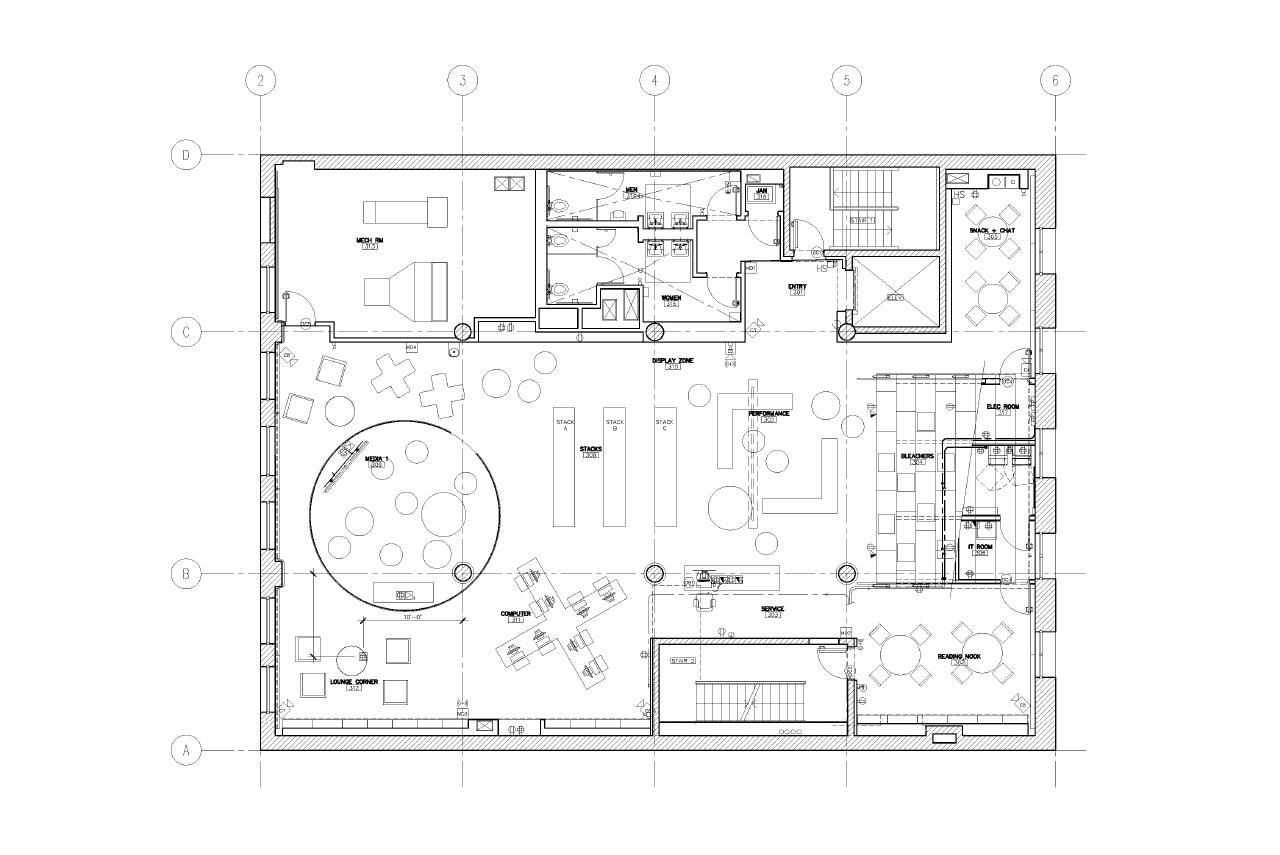 Hamilton grange teen center by rice lipka architects for Renovation grange