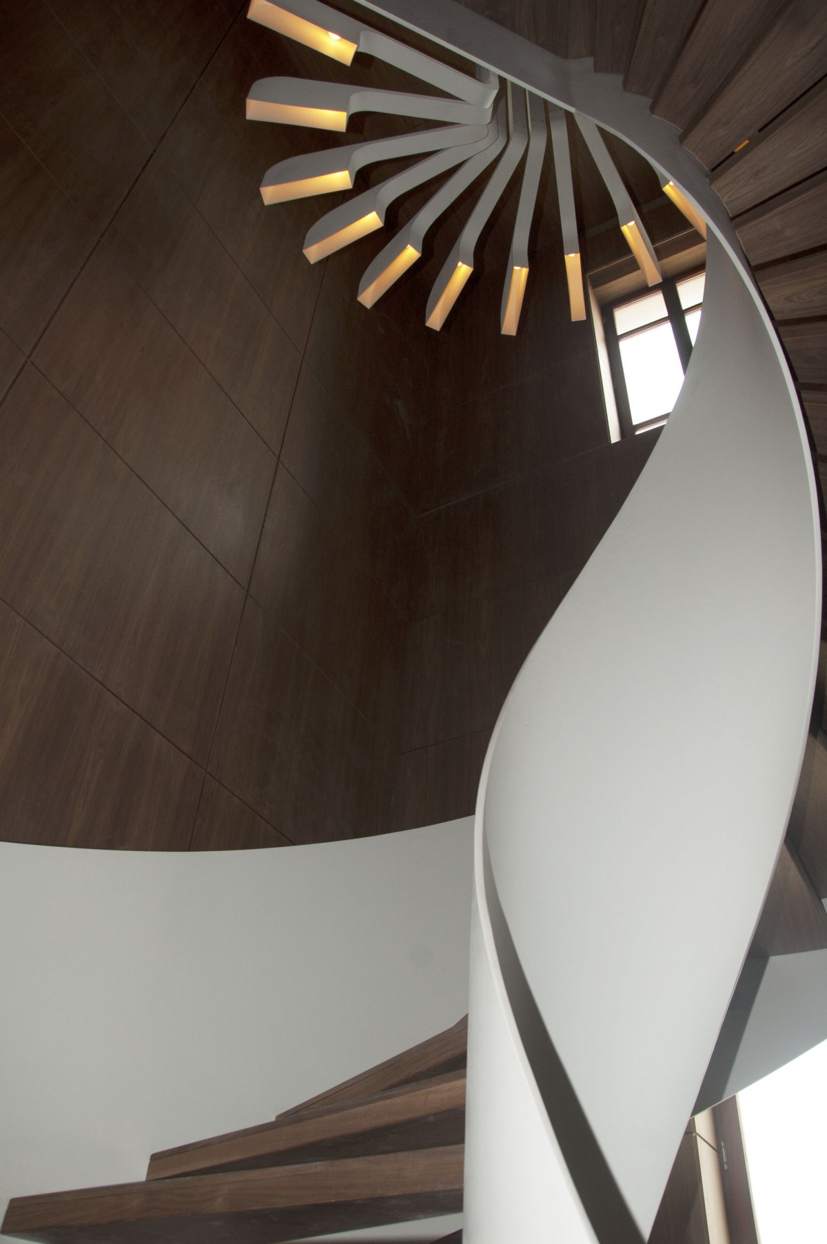 Lighting Basement Washroom Stairs: Spiral Staircase Lighting By .PSLAB