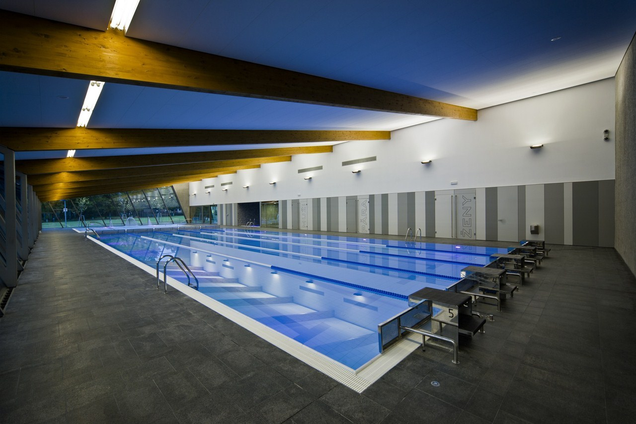 Indoor swimming pool in litomy l by architekti drnh for Interior swimming pool
