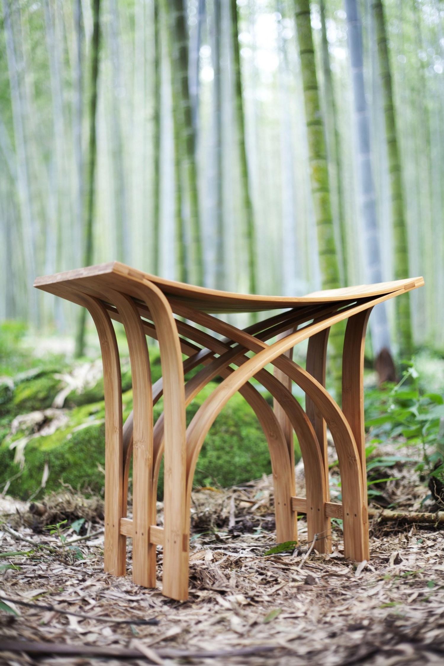 Flexible bamboo stool by grass studio karmatrendz