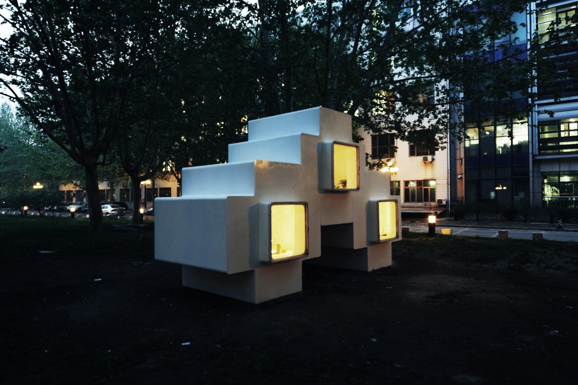 micro house by studio liu lubin karmatrendz. Black Bedroom Furniture Sets. Home Design Ideas