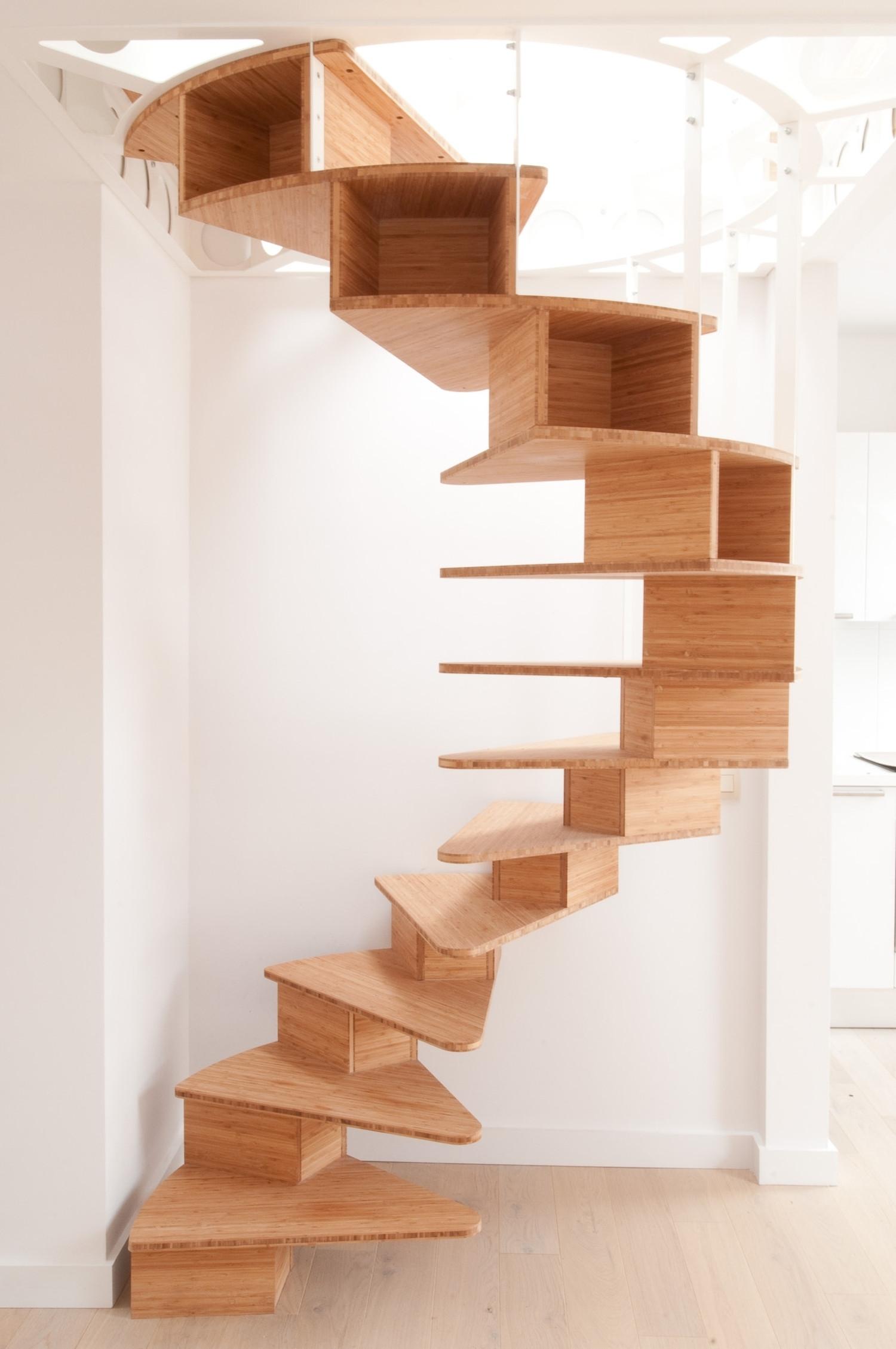 olmo spiral staircase by jo a karmatrendz. Black Bedroom Furniture Sets. Home Design Ideas