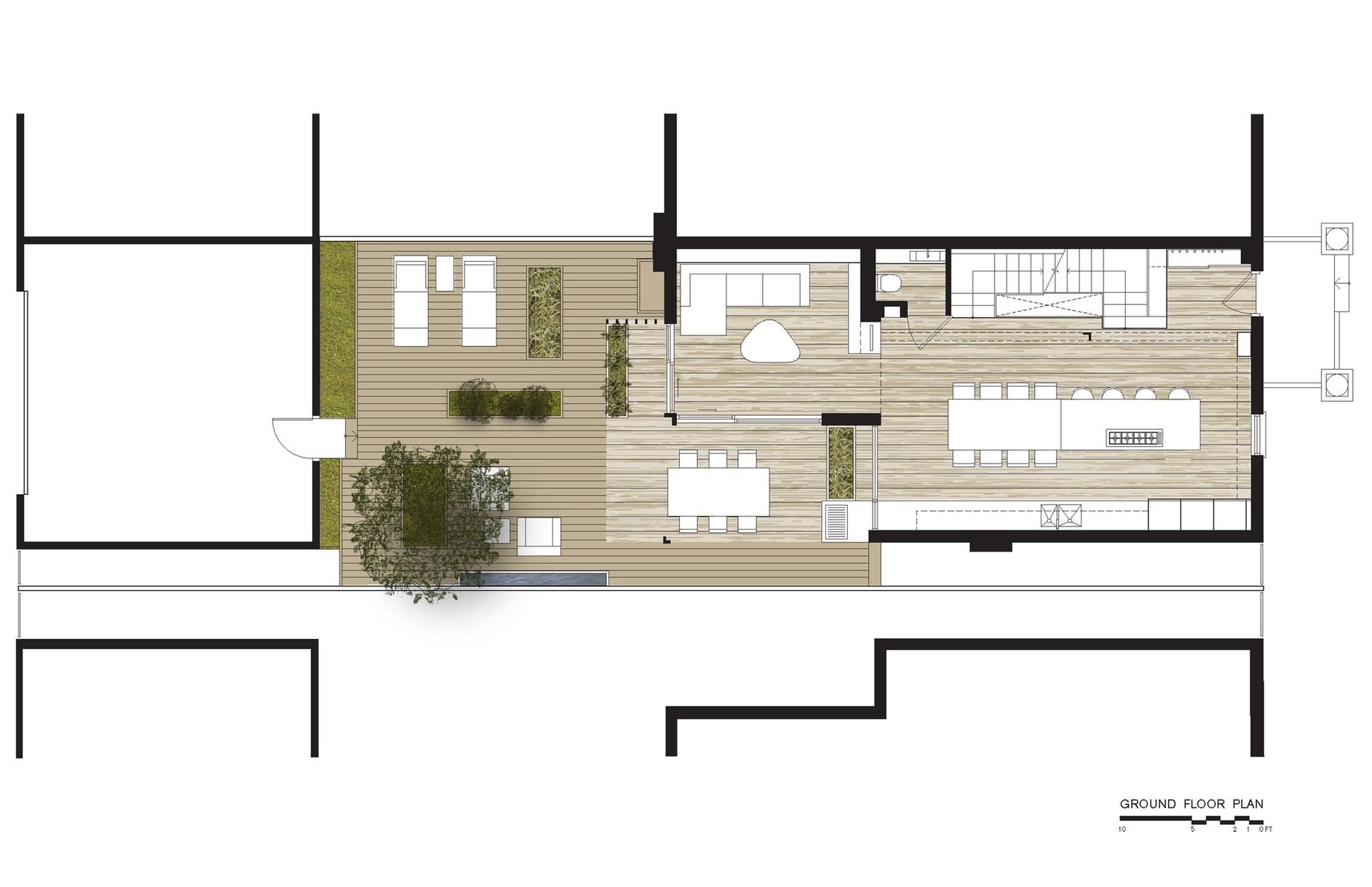 Through house by dubbeldam architecture design karmatrendz for Dubbeldam architecture and design s contrast house